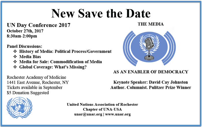 UN Day Conference Save the Date 2017